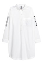 Short shirt dress - White - Ladies | H&M 2